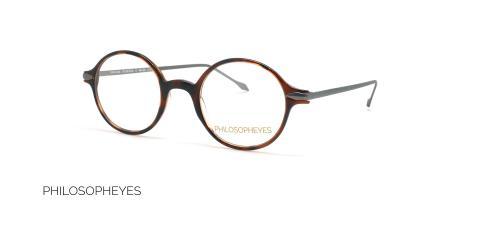 عینک طبی گرد  فیلسوفایز - PHILOSOPHEYES PHP936-رنگ قهوه ای هاوانا- عکاسی وحدت - عکس زاویه سه رخ