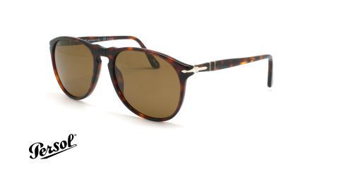 عینک آفتابی پلاریزه پرسول - Persol Polarized PO9649s - قهوه ای هاوانا - عکاسی وحدت - زاویه سه رخ