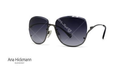 عینک آفتابی بالا گریف آناهیکمن - بدنه نوک مدادی - عدسی بادمجونی طیف دار - عکاسی وحدت - زاویه سه رخ