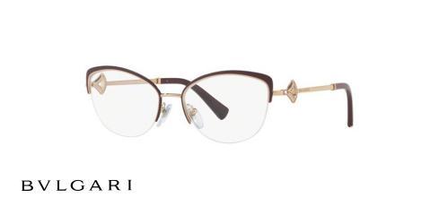 عینک طبی زیرگریف طلای مشکی بولگاری - زاویه سه رخ