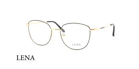 عینک طبی لنا -LENA LE452 - فریم طلایی - عکاسی وحدت - عکس زاویه سه رخ
