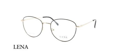 عینک طبی چندضلعی لنا - LENA LE451 - رنگ نقره ای - عکاسی وحدت - عکس سه رخ