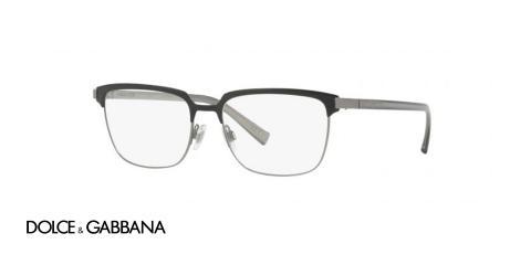 عینک طبی فلزی Dolce & Gabbana - رنگ مشکی نوک مدادی - زاویه سه رخ
