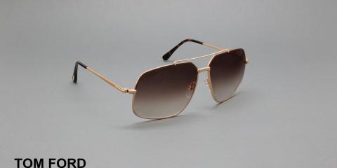 عینک آفتابی تام فورد - طرح مدل ژنرال - عکاسی وحدت - زاویه سه رخ