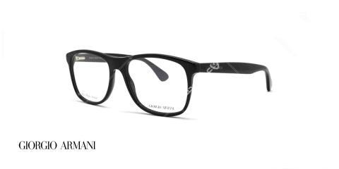 عینک طبی کائوچویی جورجیو ارمانی - رنگ بدنه مشکی - عکاسی وحدت - زاویه سه رخ