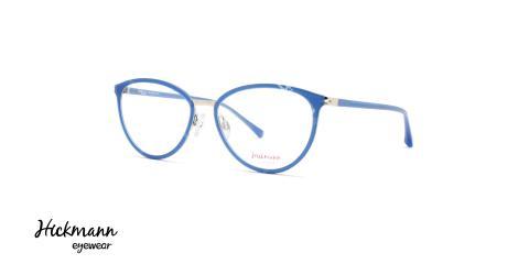 عینک طبی کائوچویی هیکمن - رنگ بدنه آبی - عکاسی وحدت - زاویه سه رخ