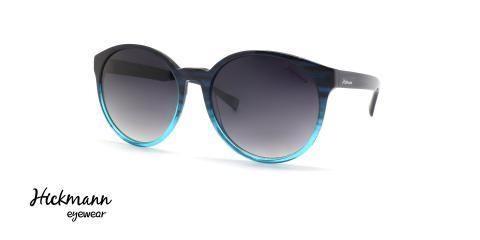 عینک آفتابی گرد آبی هیکمن - عکاسی عینک وحدت - زاویه سه رخ