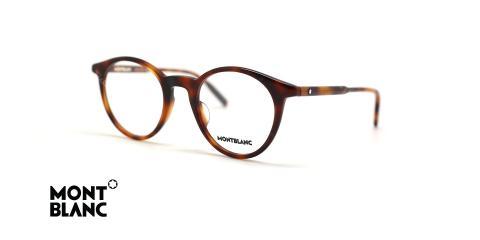 عینک طبی مون بلان کائوچویی قهوه ای هاوانا - زاویه سه رخ