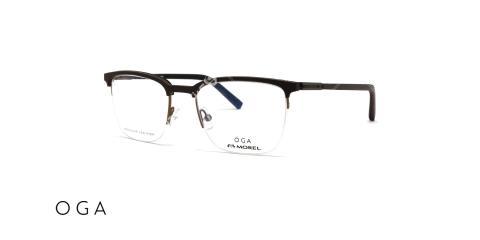 عینک طبی OGA - زیر گریف چوبی - عکاسی وحدت - زاویه سه رخ