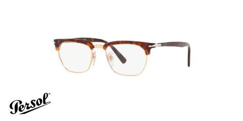 عینک طبی کلاب مستر پرسول رنگ هاوانا - زاویه سه رخ