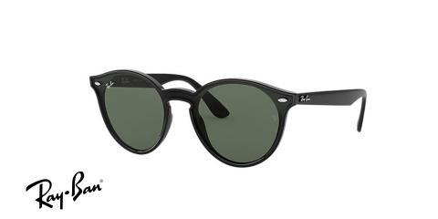 عینک آفتابی ری بن RB4380 -فریم مشکی و عدسی سبز- اپتیک وحدت - عکس از زاویه سه رخ