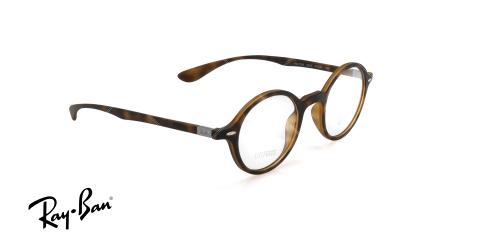 عینک طبی گرد ری بن - RAYBAN RB7069 - رنگ قهوه ای هاوانا - عکاسی وحدت - عکس زاویه سه رخ