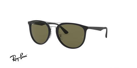 عینک آفتابی ریبن - مدل شبه خلبانی Injected - رنگ مشکی - عدسی سبز کلاسیک پولاریزه - زاویه سه رخ