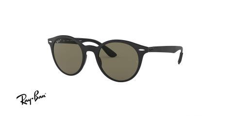 عینک آفتابی ریبن - گرد Forcelite - بدنه مشکی مات - عدسی سبز کلاسیک G15 - زاویه سه رخ