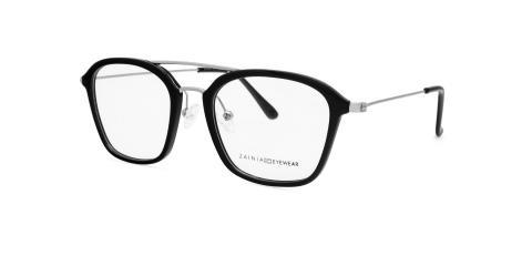 عینک طبی زینیا مربعی شکل مشکی رنگ - زاویه سه رخ