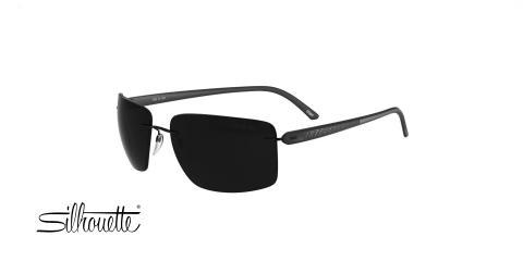 عینک آفتابی سیلهوئت مدل 8686 - رنگ مشکی - ویژه فروش آنلاین - زاویه روبرو