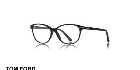 عینک طبی تام فورد - مدل گربه ای - کائوچویی مشکی رنگ - زاویه سه رخ