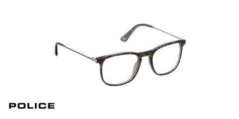 عینک طبی پلیس - POLICE VPL562 - رنگ فریم مشکی- قهوه ای  - اپتیک وحدت - عکس زاویه سه رخ