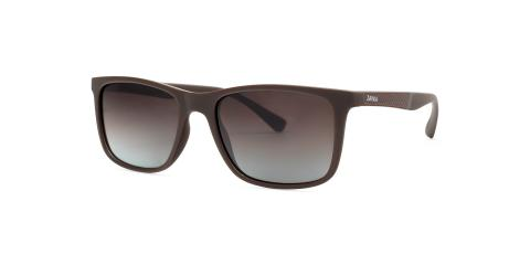 عینک آفتابی مستطیلی زینیا قهوه ای با بدنه قهوه ای - عکاسی توسط عینک وحدت - زاویه ی راست به