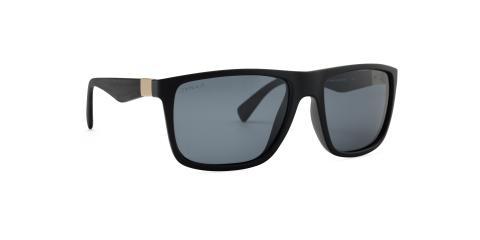 عینک آفتابی زینیا - بیس دار کائوچوی سبک مشکی با عدسی های دودی - عکاسی وحدت - زاویه سه رخ
