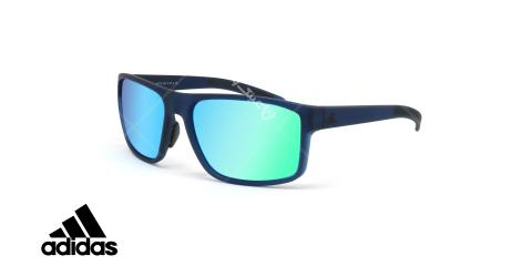 عینک آفتابی ورزشی آدیداس مدل whipstart - رنگ آبی مات با عدسی های آبی جیوه ای - عکاسی وحدت - زاویه سه رخ
