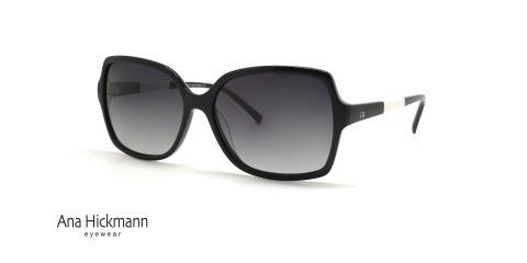 عینک آفتابی زنانه مربعی آناهیکمن - Ana Hickmann AH9165 - رنگ مشکی - عکاسی وحدت - عکس زاویه سه رخ