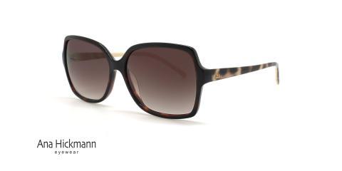 عینک آفتابی زنانه مربعی آناهیکمن - Ana Hickmann AH9165 - رنگ قهوه ای - عکاسی وحدت - عکس زاویه سه رخ