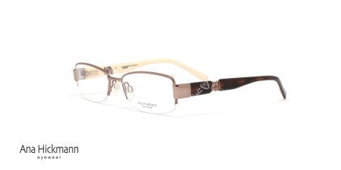 عینک طبی آنا هیکمن - رنگ رز گلد - عکاسی وحدت - زاویه سه رخ