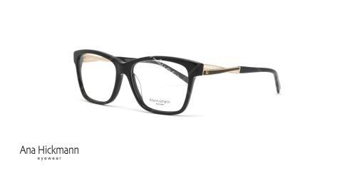 عینک طبی کائوچویی آنا هیکمن مشکی رنگ AH6222 - عکاسی وحدت - زاویه سه رخ