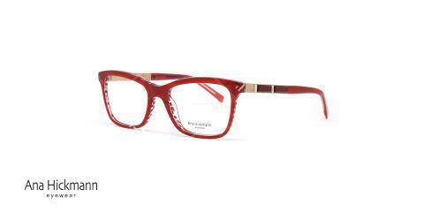 عینک طبی آنا هیکمن - رنگ قرمز - عکاسی وحدت - زاویه سه رخ