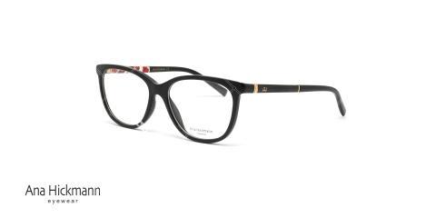 عینک طبی آناهیکمن - مشکی با گل قرمز - دو رو  - عکاسی وحدت - زاویه سه رخ