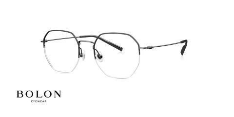عینک طبی زیرگریف چند ضعلی بولون - نوک مدادی - زاویه سه رخ