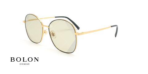 عینک آفتابی پروانه بولون - BOLON BL7056 - طلایی مشکی - عکاسی وحدت - زاویه سه رخ
