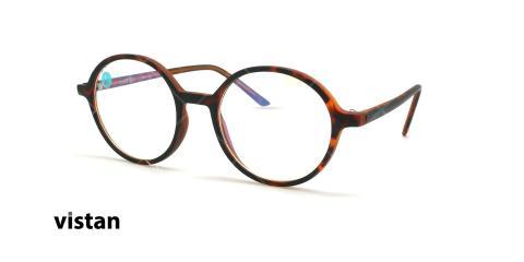 عینک آماده بلوکنترل ویستان VISTAN OB1428 - قهوه ای هاوانا - عکاسی وحدت - زاویه سه رخ