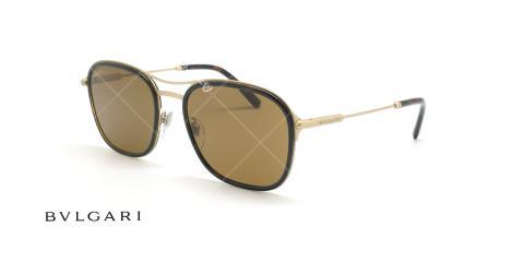 عینک آفتابی دوپل بولگاری - Bvlgari BV5041 - قهوه ای طلایی - عکاسی وحدت - زاویه سه رخ