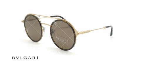 عینک آفتابی دوپل بولگاری - Bvlgari BV5042 - قهوه ای طلایی - عکاسی وحدت - زاویه سه رخ