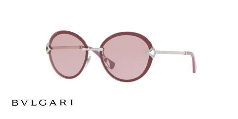 عینک آفتابی گرد Bvlgari - رنگ بنفش - زاوه سه رخ