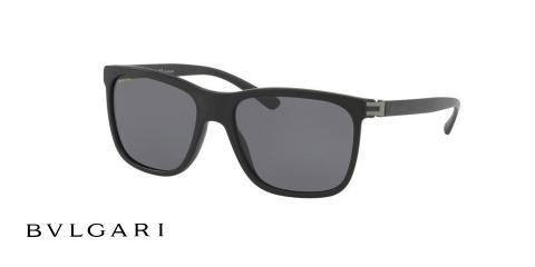 عینک آفتابی بولگاری مردانه مشکی رنگ - زاویه سه رخ