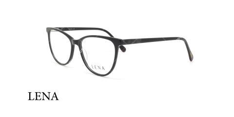 عینک طبی لنا - LENA LE413 - عکاسی وحدت - رنگ مشکی - عکس زاویه سه رخ -