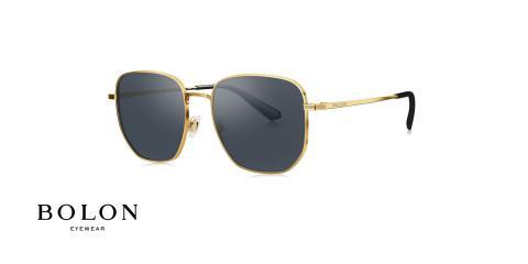 عینک آفتابی چند ضلعی بولون - BOLON BL7088 - اپتیک وحدت -مشکی طلایی- عکس زاویه سه رخ