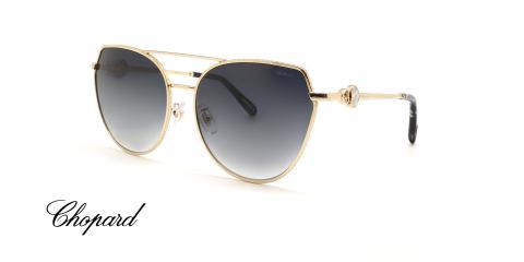 عینک آفتابی فلزی گربه ای شوپارد - CHOPARD SCHC87S - عکاسی وحدت - عکس زاویه سه رخ