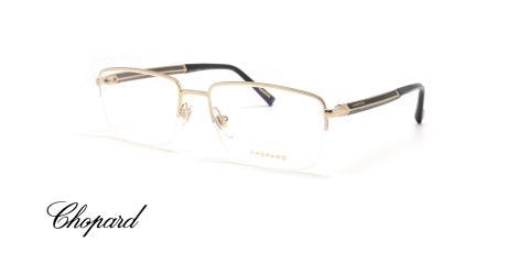 عینک طبی زیر گریف شوپارد با دسته کربن و چوب -  Chopard VCHC98 - عکاسی وحدت - عکس زاویه سه رخ