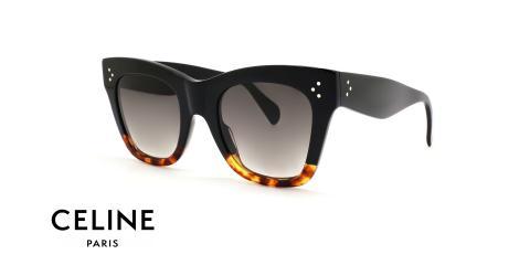 عینک آفتابی کائوچویی دو رنگ سلین - عکاسی عینک وحدت - زاویه سه رخ