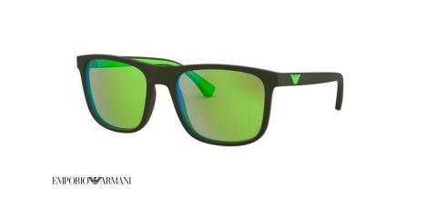 عینک آفتابی امپریو آرمانی شیشه سبز جیوه ای - زاویه سه رخ