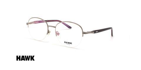 عینک طبی زیرگریف زنانه هاوک - HAWK HW7410 - عکاسی وحدت - عکس زاویه سه رخ