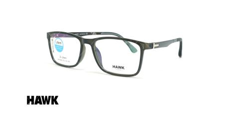 عینک طبی کائوچویی هاوک - HAWK HW7096 - عکاسی وحدت - عکس زاویه سه رخ