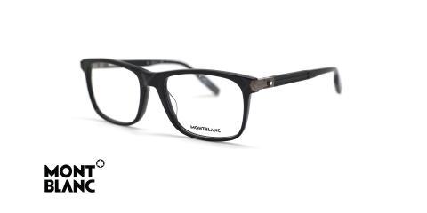 عینک طبی کائوچویی مشکی رنگ مون بلان - زاویه سه رخ