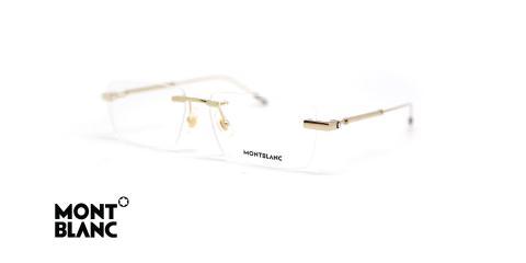 عینک طبی گریف طلایی مون بلان - زاویه سه رخ