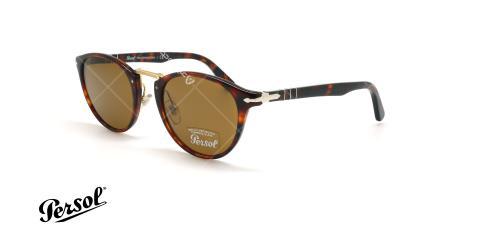 عینک آفتابی پرسول  - Persol Typewriter Edition PO3108S - قهوه ای هاوانا - عکاسی وحدت - زاویه سه رخ