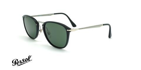 عینک آفتابی مربعی پرسول - Persol Calligrapher PO3165S - مشکی - عکاسی وحدت - زاویه سه رخ